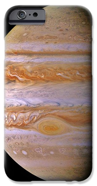 Outer Space iPhone Cases - Jupiter And The Spot iPhone Case by Benjamin Yeager