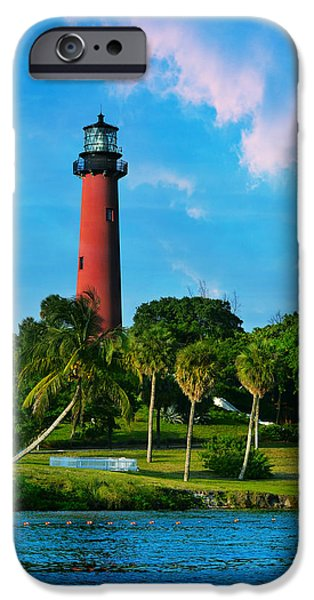 Lighthouse iPhone Cases - Jupiter Florida Lighthouse iPhone Case by Laura  Fasulo