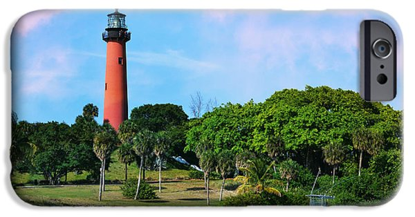 Laura Fasulo iPhone Cases - Jupiter Lighthouse iPhone Case by Laura  Fasulo