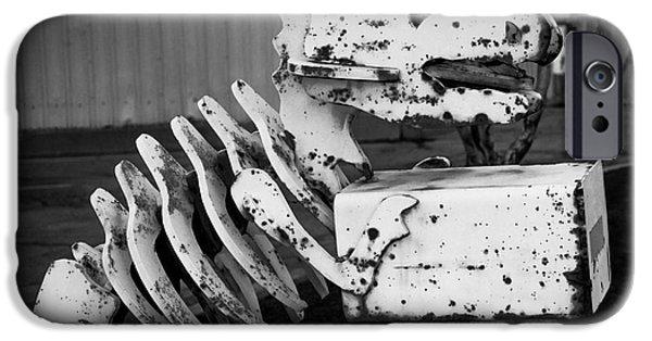 Asphalt iPhone Cases - Jurassic Dinosaur Mailbox iPhone Case by Gary Whitton