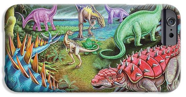 Extinct And Mythical Photographs iPhone Cases - Jurassic Swamp iPhone Case by Mark Gregory