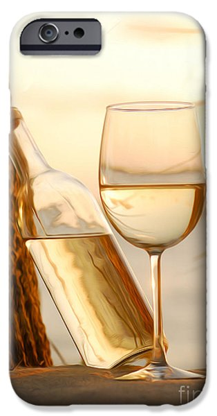 Vineyard In Napa iPhone Cases - Just a beautiful day iPhone Case by Jon Neidert