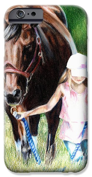 Bonding iPhone Cases - Just a Girl and Her Horse iPhone Case by Shana Rowe