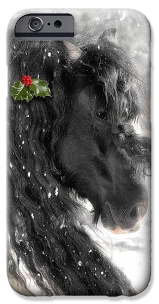 Recently Sold -  - Winter iPhone Cases - Just a little Holly will do iPhone Case by Fran J Scott