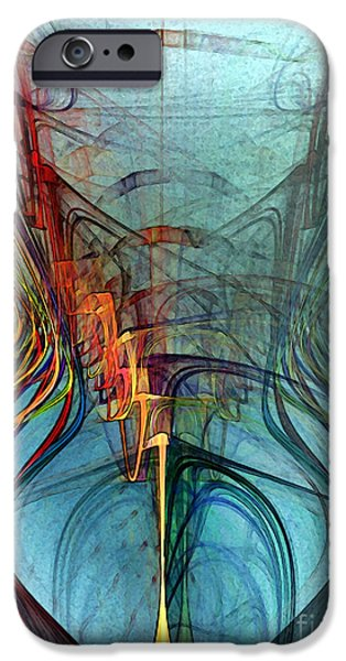 Poetic iPhone Cases - Just A Melody-Abstract Art iPhone Case by Karin Kuhlmann
