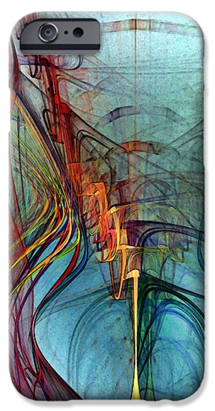 Abstract Expressionism iPhone Cases - Just A Melody-Abstract Art iPhone Case by Karin Kuhlmann