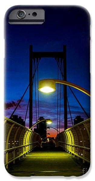 Pathway iPhone Cases - Just a Pedestrian Sunrise iPhone Case by James Aiken