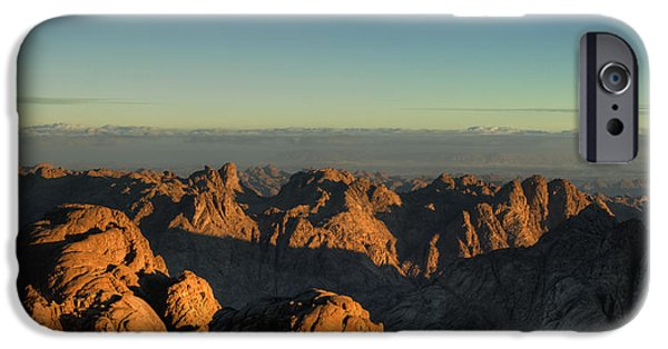 Panoramic Pyrography iPhone Cases - Just After Sunrise iPhone Case by Julis Simo