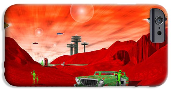 Orb iPhone Cases - Just Another Day on the Red Planet Panoramic iPhone Case by Mike McGlothlen