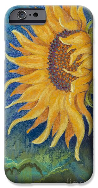 Sun Rays Pastels iPhone Cases - Just Another Sunflower iPhone Case by Tracy L Teeter