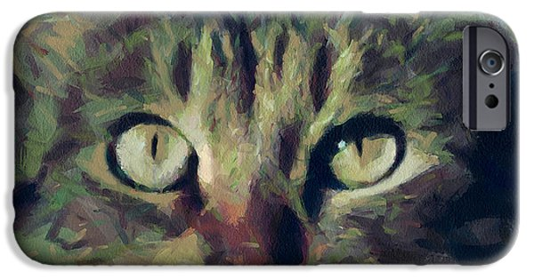 House Pet Digital Art iPhone Cases - Just be careful iPhone Case by Yury Malkov
