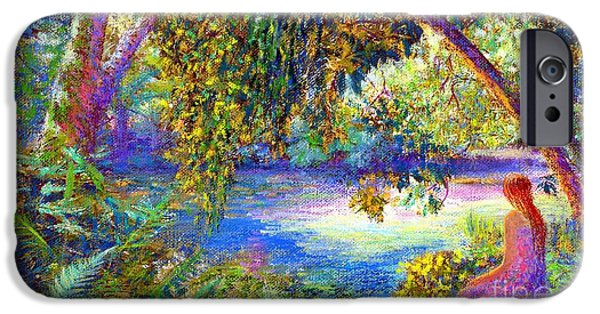 Healing Paintings iPhone Cases - Just Be iPhone Case by Jane Small