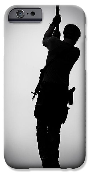 Police Cruiser iPhone Cases - Just Dropping In iPhone Case by David Morefield