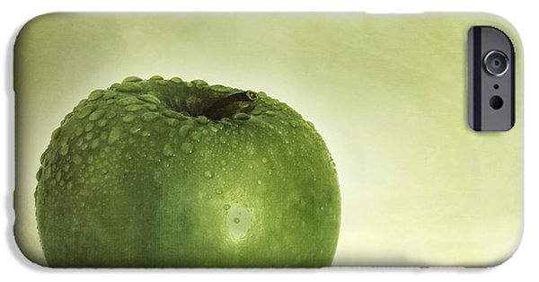 Apple iPhone Cases - Just Green iPhone Case by Priska Wettstein