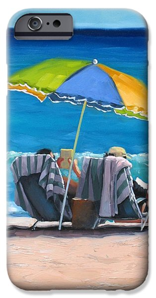 Beach Chair iPhone Cases - Just Leave a Message IV iPhone Case by Laura Lee Zanghetti