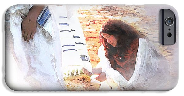 Spiritual Portrait Of Woman iPhone Cases - Just One Touch iPhone Case by Jennifer Page