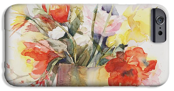 Flower Bouquet iPhone Cases - Just Picked iPhone Case by Bonnie Rinier
