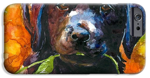 Puppies iPhone Cases - Just Picked iPhone Case by Molly Poole