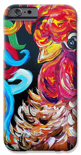 Virtual Paintings iPhone Cases - Just Plain Silly iPhone Case by Eloise Schneider