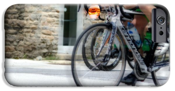 Male Athlete iPhone Cases - Just Riding Along iPhone Case by Steven  Digman