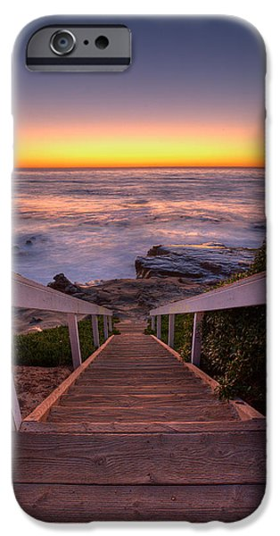 Just Steps to the Sea iPhone Case by Peter Tellone