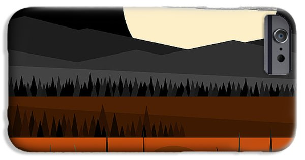 Fall Scenes iPhone Cases - Just Waiting - Jack O Lanterns and Pumpkin Pie iPhone Case by Val Arie