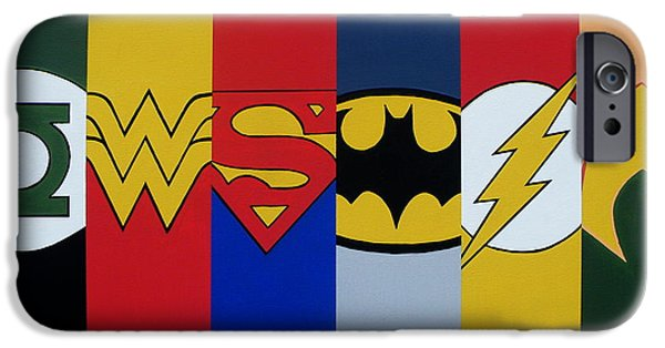 Justice League iPhone Cases - Justice Logos iPhone Case by Ian  King