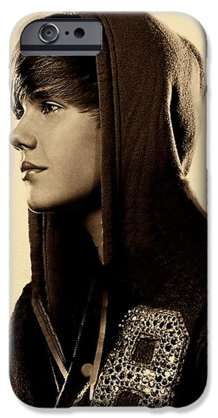Recently Sold -  - Business Digital iPhone Cases - Justin Bieber  iPhone Case by David Dehner