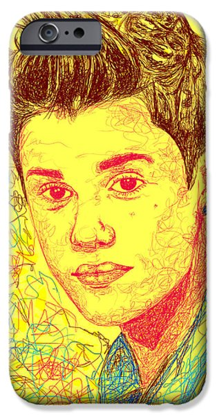 Kenal Louis iPhone Cases - Justin Bieber In Line iPhone Case by Kenal Louis