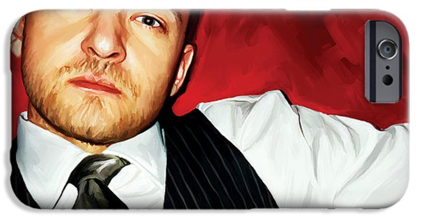 Justin Timberlake iPhone Cases - Justin Timberlake Artwork iPhone Case by Sheraz A