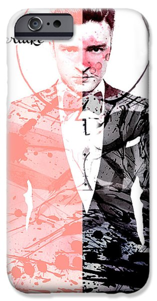Justin Timberlake iPhone Cases - Justin Timberlake iPhone Case by Jessica Echevarria