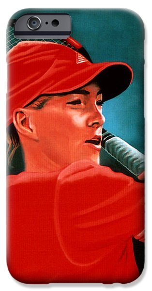 Justine Henin  iPhone Case by Paul  Meijering