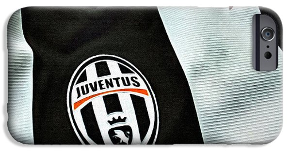 Turin Digital Art iPhone Cases - Juventus Poster Art iPhone Case by Florian Rodarte
