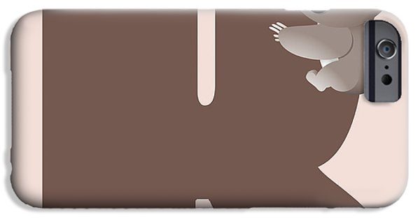 Koala Digital Art iPhone Cases - K iPhone Case by Gina Dsgn