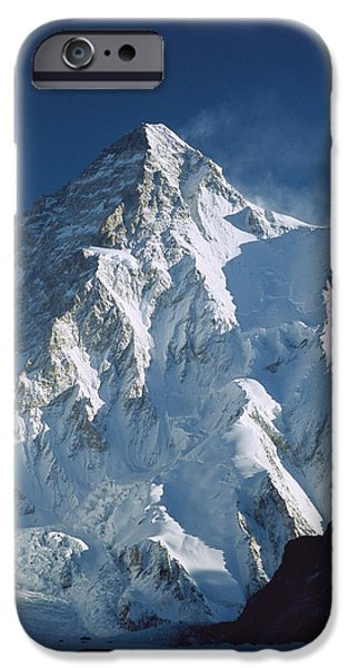 Mountains iPhone Cases - K2 At Dawn Pakistan iPhone Case by Colin Monteath