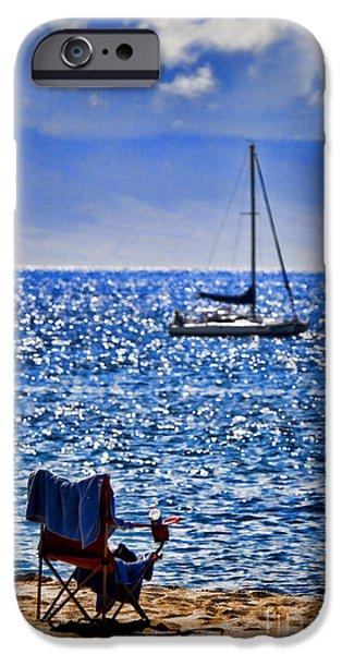 Kaana pali Beach in Maui iPhone Case by David Smith