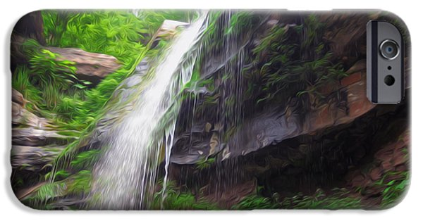 Overhang iPhone Cases - Kaaterskill Falls 13 iPhone Case by Lanjee Chee