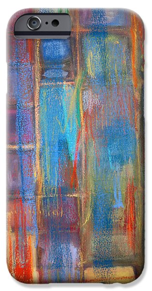 Abstract Expressionist Pastels iPhone Cases - Kachina 1 iPhone Case by  Tolere