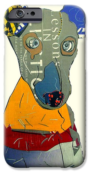 Rescued Greyhound iPhone Cases - Kacy  iPhone Case by Bri Buckley