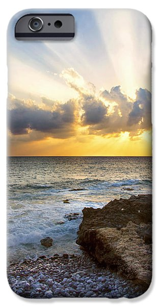 States iPhone Cases - Kaena Point State Park Sunset 2 - Oahu Hawaii iPhone Case by Brian Harig