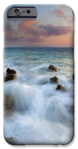 Hawaii Islands iPhone Cases - Kahoolawe Sunset iPhone Case by Mike  Dawson