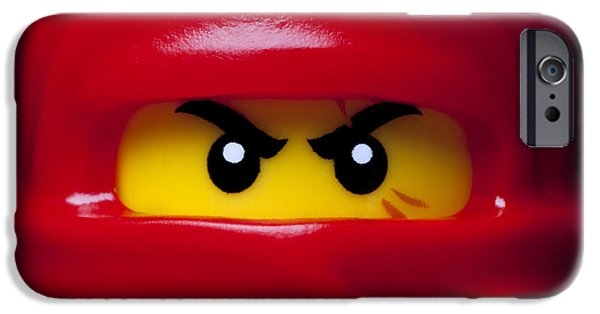 Lego iPhone Cases - Kai Red Ninjago iPhone Case by Samuel Whitton