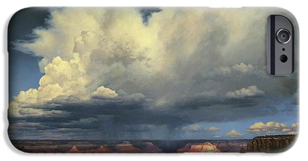 Thunderhead iPhone Cases - Kaibab Trail Storms iPhone Case by John Cogan