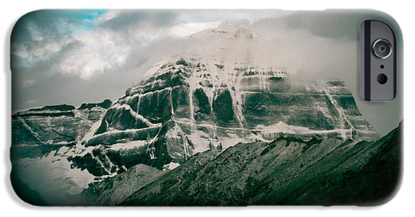 Tibetan Buddhism iPhone Cases - Kailas mountain Tibet Home of the Lord Shiva iPhone Case by Raimond Klavins
