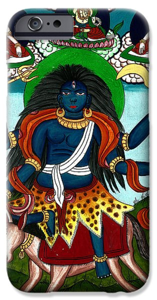 Kal Ratri iPhone Case by Ashok Kumar