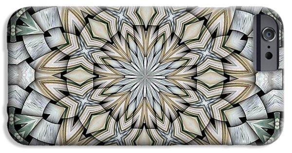 Kaleidoscope iPhone Cases - Kaleidoscope 10 iPhone Case by Ron Bissett