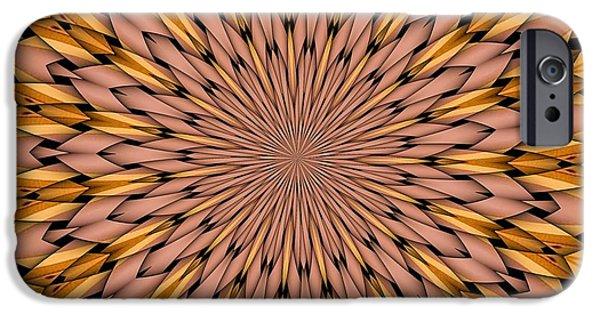Kaleidoscope iPhone Cases - Kaleidoscope 2 iPhone Case by Ron Bissett