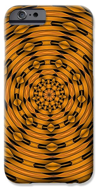 Kaleidoscope iPhone Cases - Kaleidoscope 4 iPhone Case by Ron Bissett