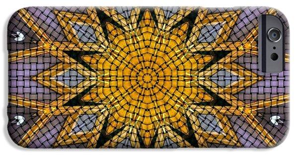 Kaleidoscope iPhone Cases - Kaleidoscope 5 iPhone Case by Ron Bissett