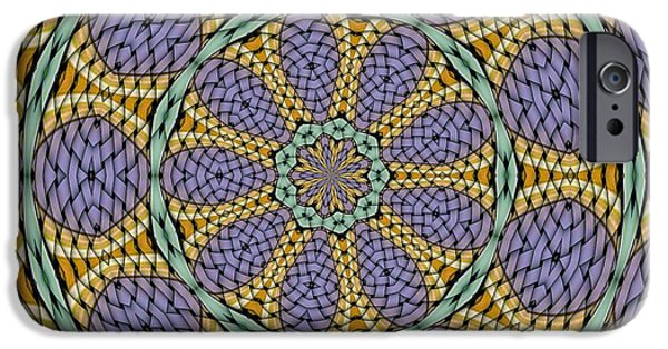 Kaleidoscope iPhone Cases - Kaleidoscope 6 iPhone Case by Ron Bissett